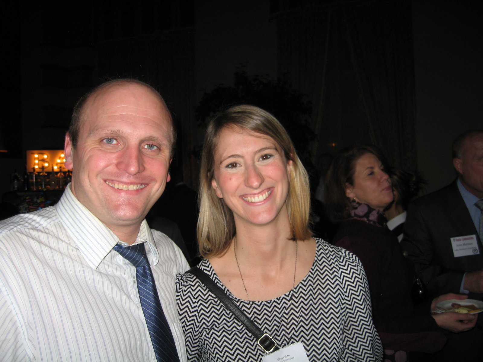 Nik Kovac and Grace Fuhr