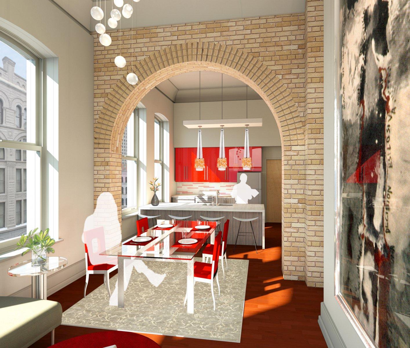 Mackie Building Kitchen Rendering