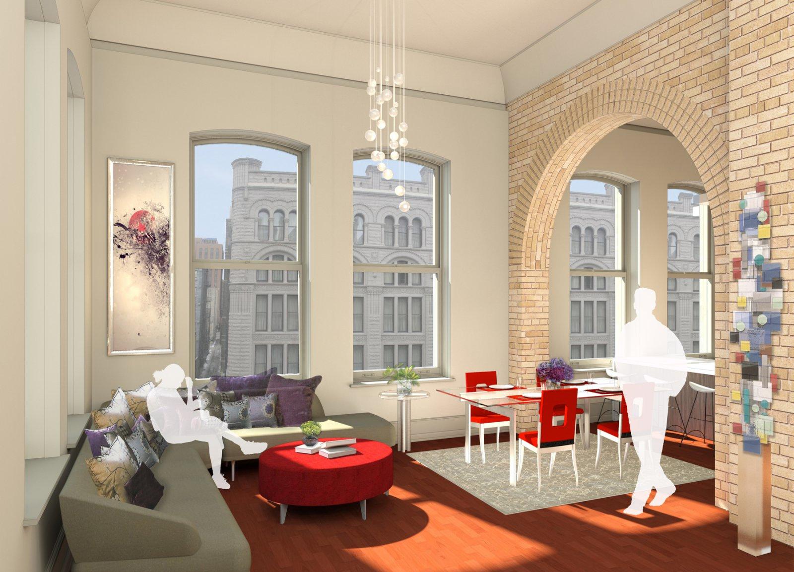 Mackie Building Living Room Rendering