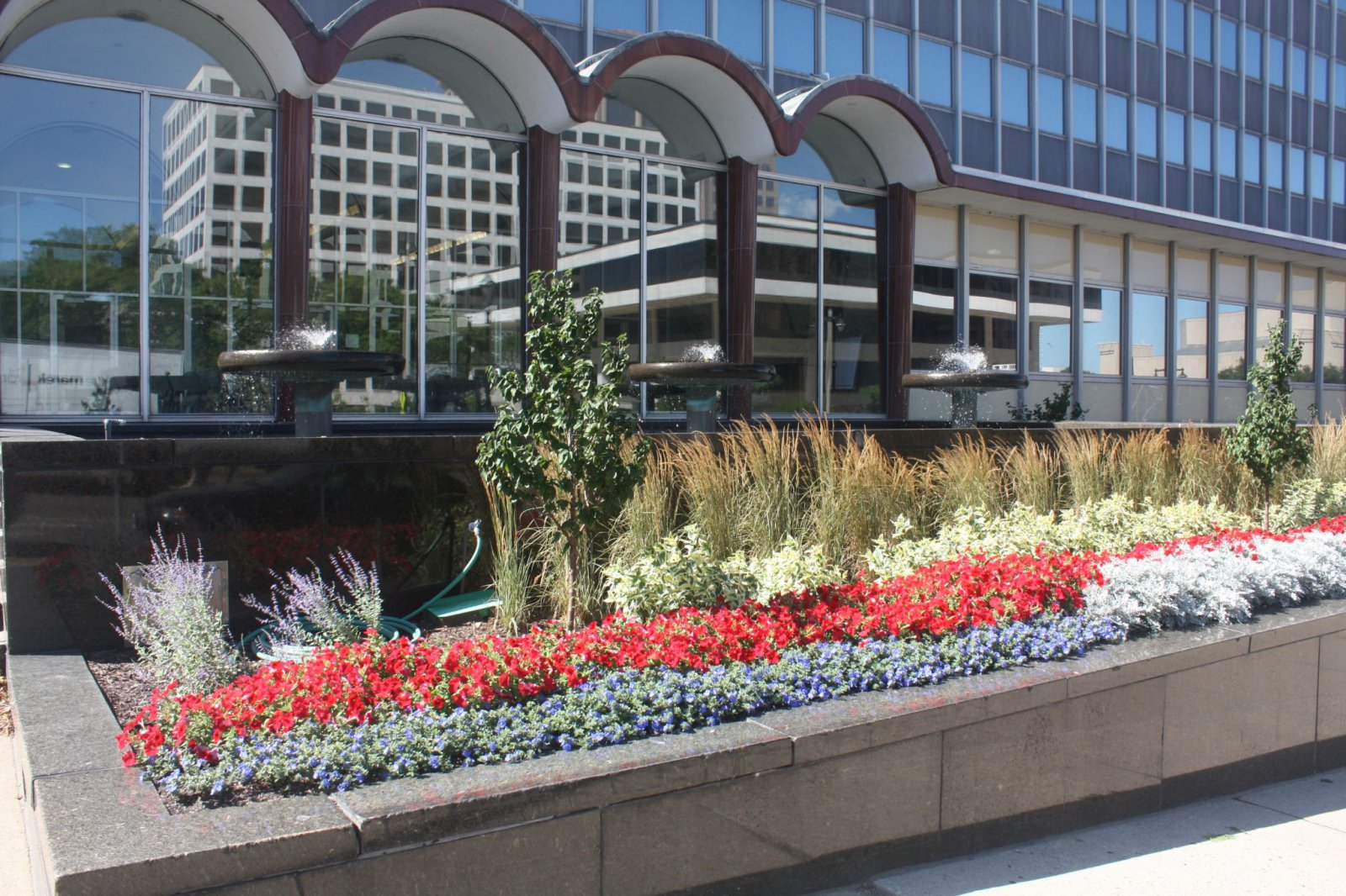 Landscaped median near Broadway