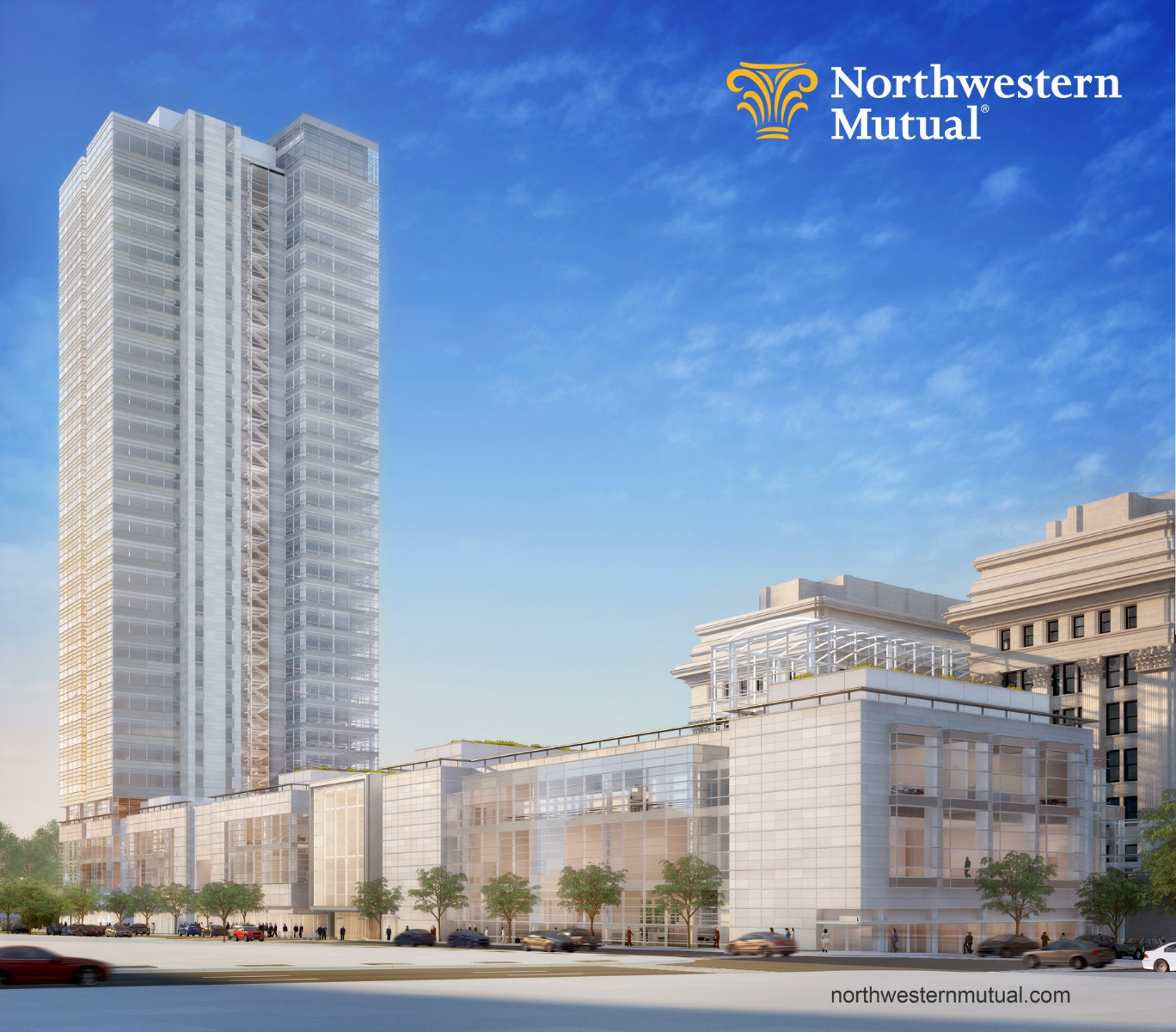 Northwestern mutual tower and commons creates more jobs for Northwestern industries