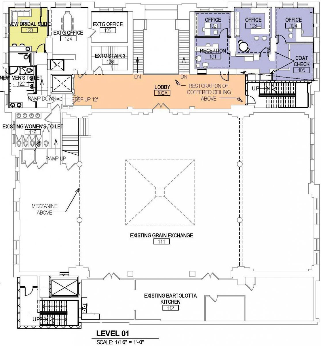 Proposed Mackie Building level one plan.