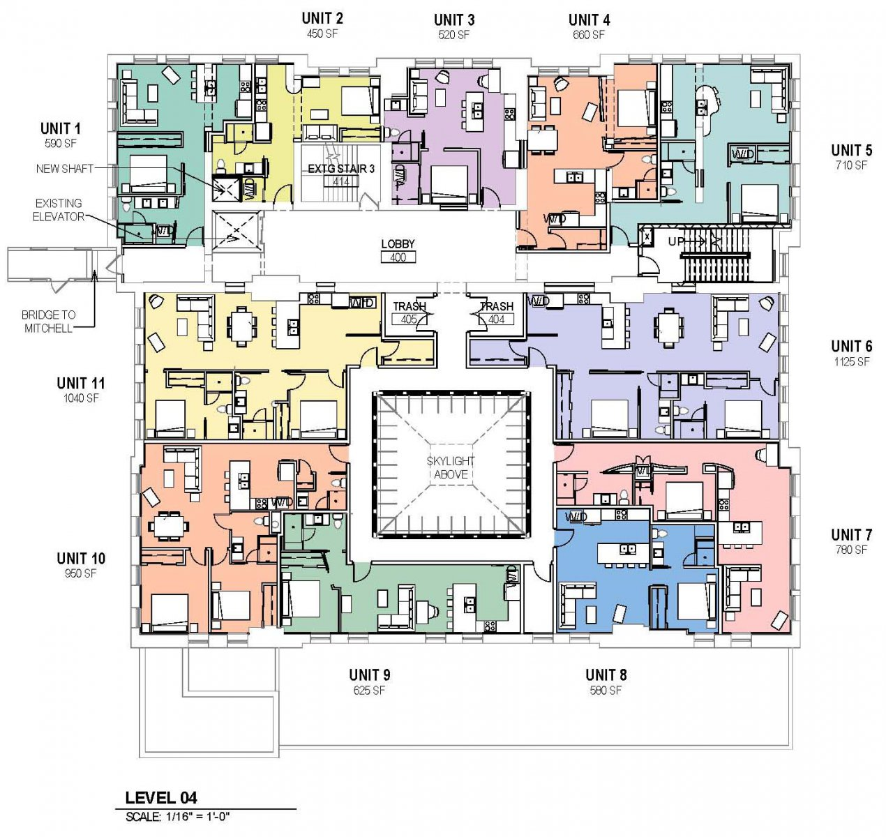 Proposed Mackie Building level four plan.