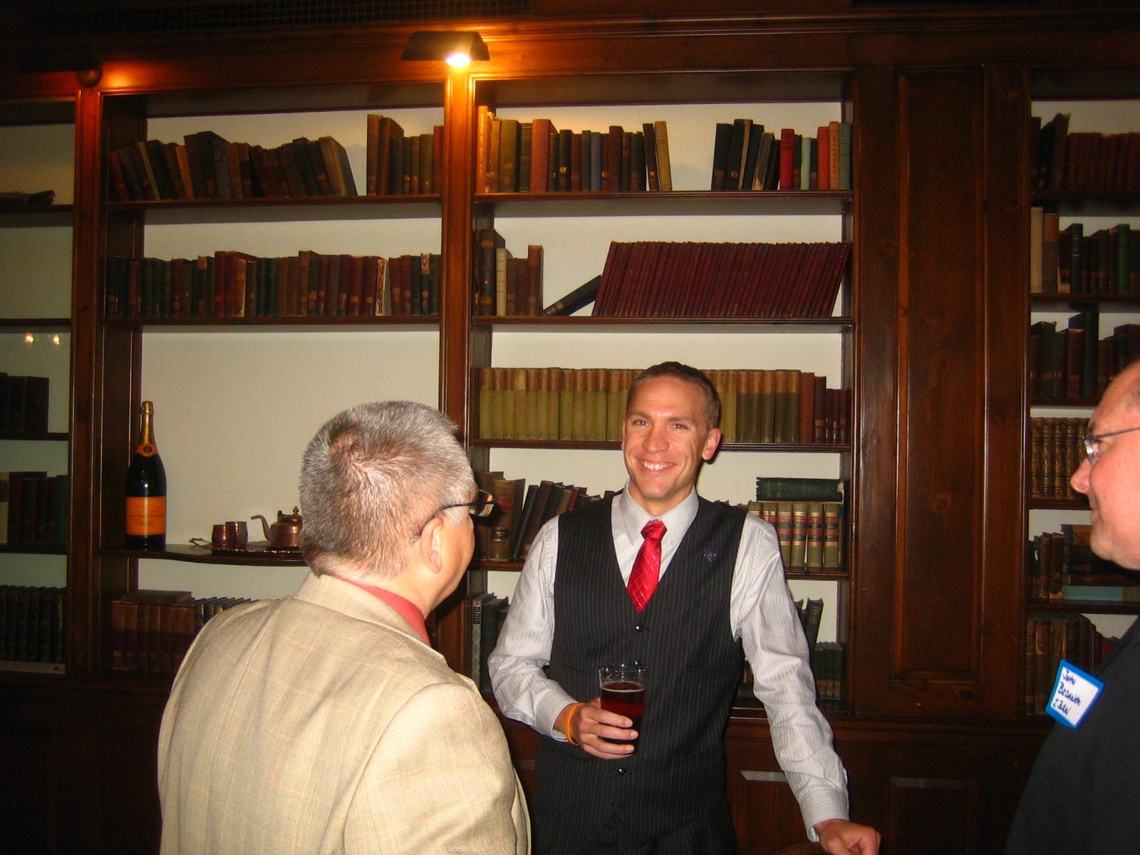 Chris Larson at a Lassa Fundraiser.