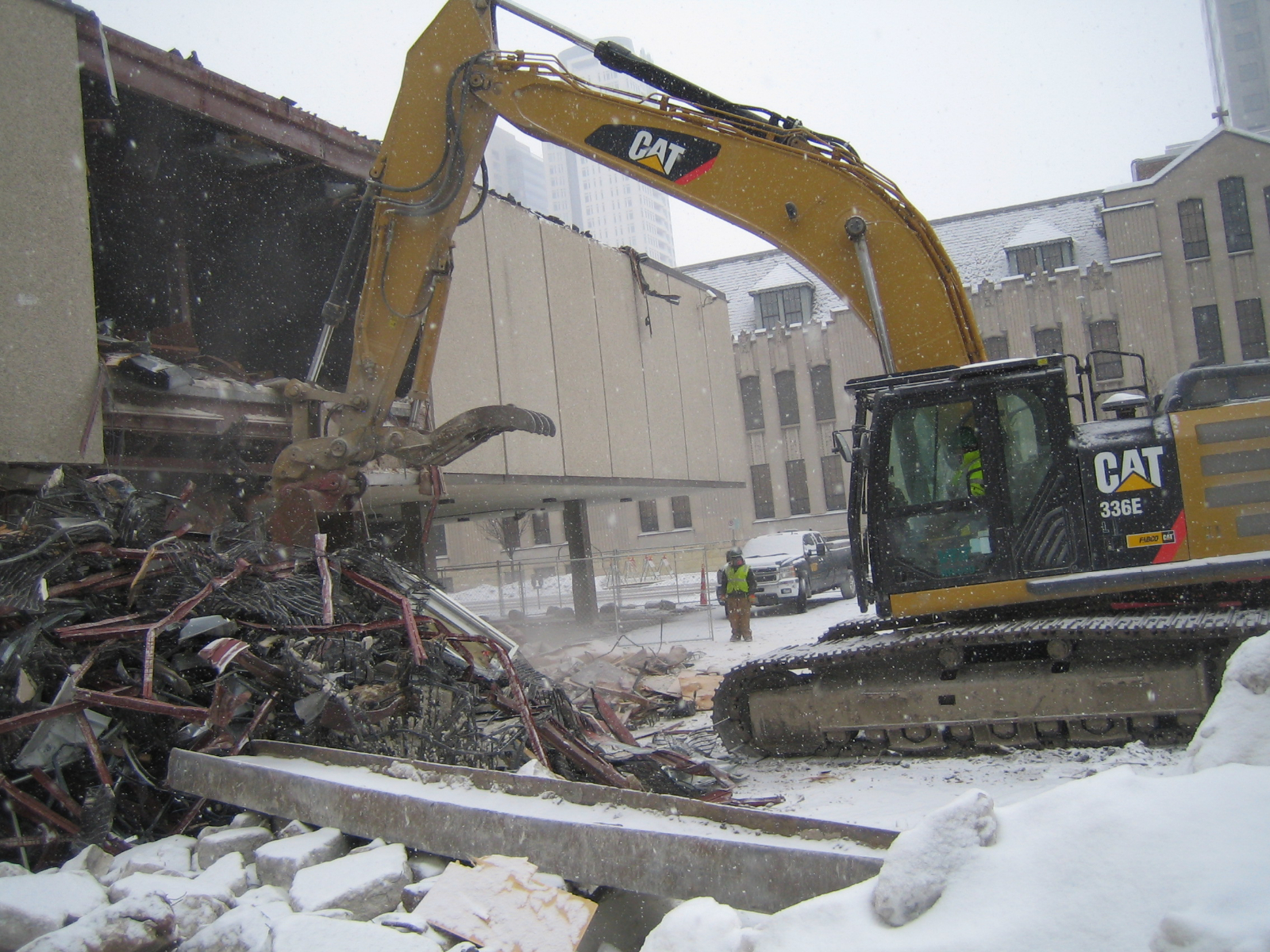 The demolition of 795 N. Van Buren St.