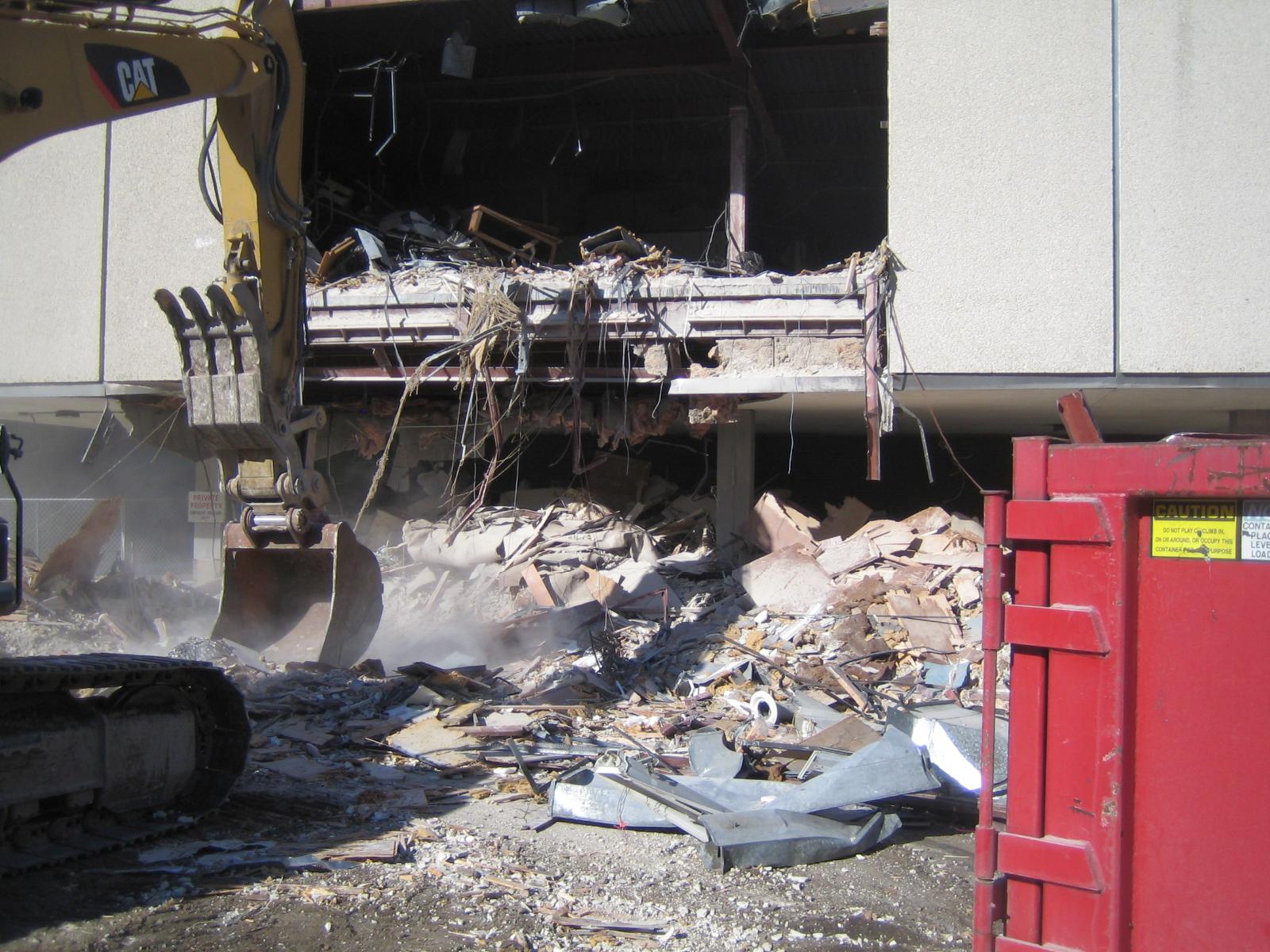 The demolition of 795 N. Van Buren St.