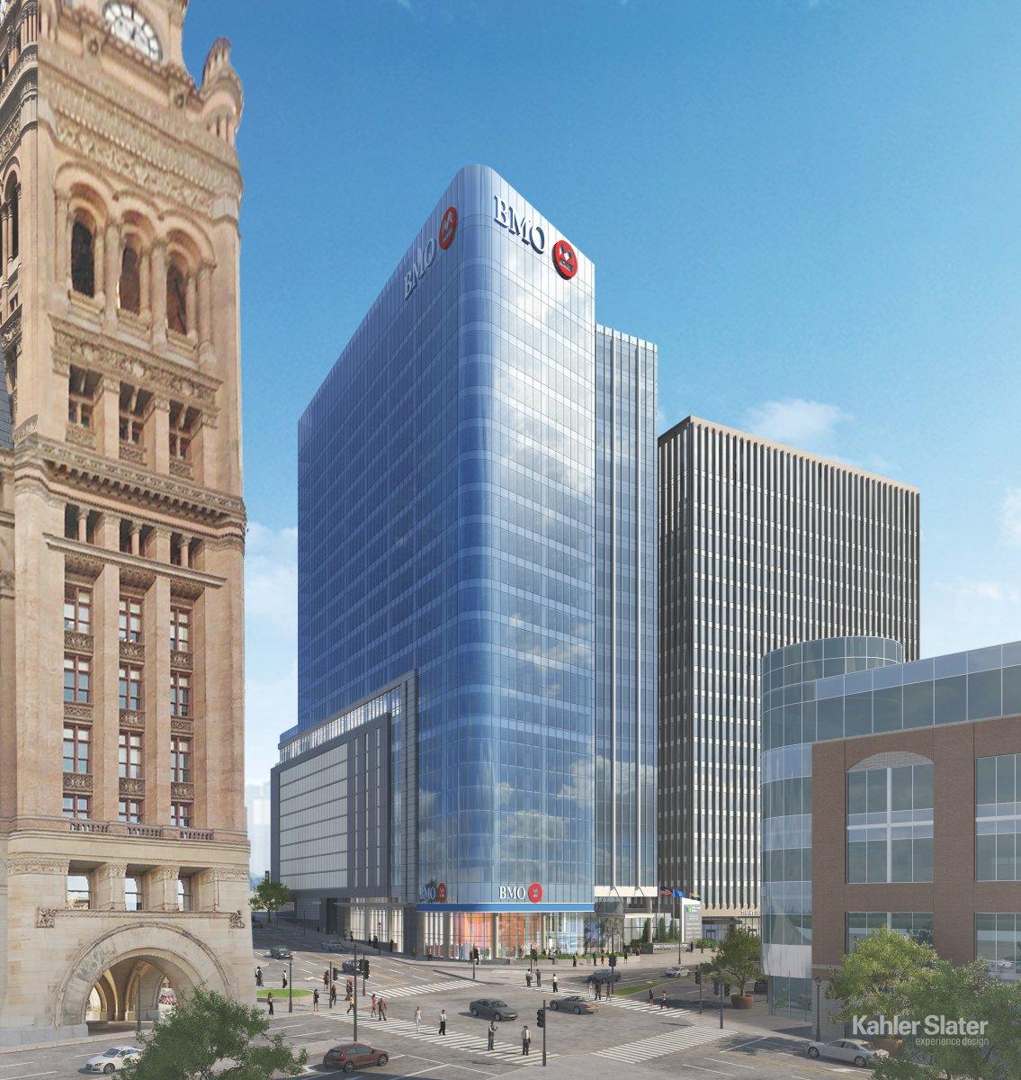 BMO Harris Bank Financial Center at Market Square Rendering