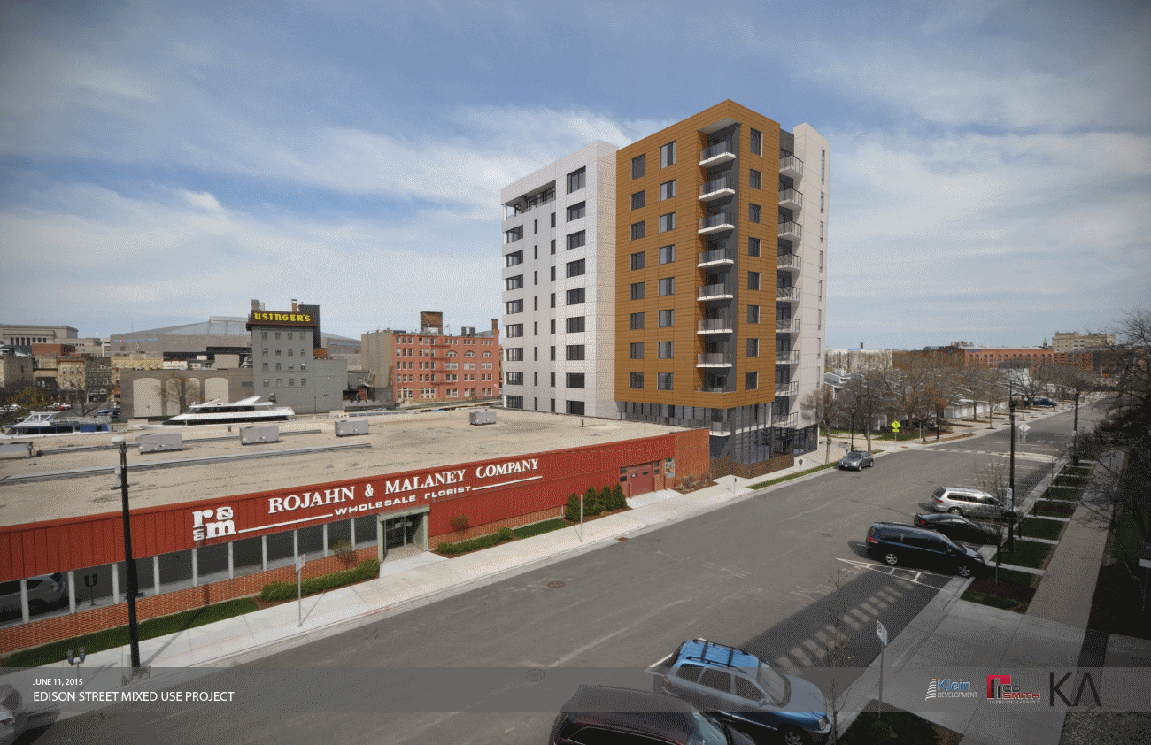 Rendering of proposal by Klein Development for 1027 N. Edison St.