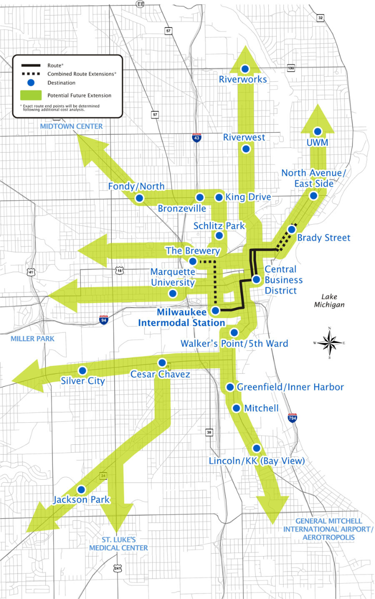 Milwaukee Streetcar Extensions