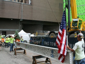 Ceremonial Beam Lifting