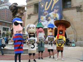 Racing Sausages at Milwaukee City Hall