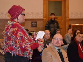 Mavis McClellan longtime Thurston Woods resident asks what programs are available to combat the foreclosure crisis.