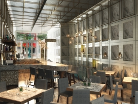 Rendering of first floor of Third Coast Provisions