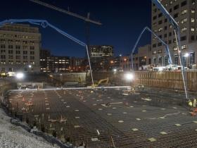 27-Hour concrete pour