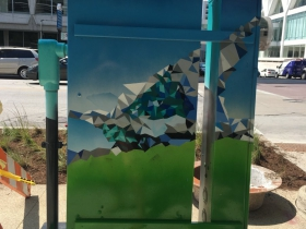 Utility Box Mural at 800 E. Wisconsin Ave.