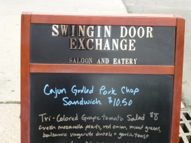 Specials at the Swingin' Door Exchange