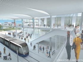 The Couture and Milwaukee Streetcar Rendering.