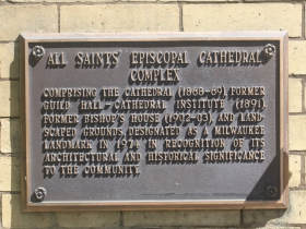 All Saints Episcopal Cathedral marker