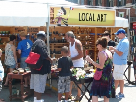 Local Art at Bastille Days