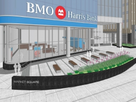 BMO Harris Financial Center Plaza Rendering