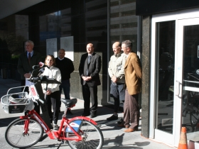 Kristin Bennett, City of Milwaukee Bicycle and Pedestrian Coordinator.