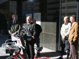 Alderman Nik Kovac speaks about how automobile drivers should love bicyclists.