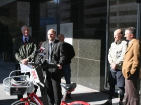 Alderman Nik Kovac speaks about how automobile drivers should love bicyclists.