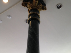 Beautiful column inside the State Bank of Wisconsin