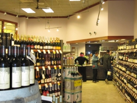Liquor department inside Metro Market