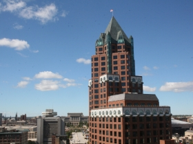 A view of the Milwaukee Center from City Hall.