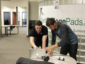 Dominic Anzalone and Patrick Anderson of RentCollegePads. Photo by Srijan Sen.