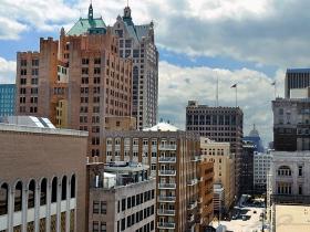 Downtown Milwaukee.