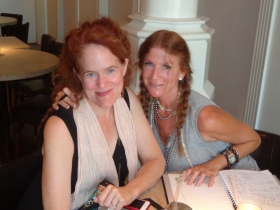 Heather Aldrich and Mary Freeman at Elsa's. Photo by Michael Horne.
