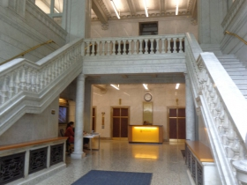 Lobby in the Wells Building.