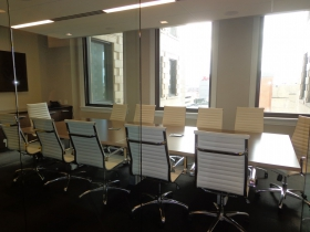 Stylish conference room.