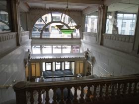 Marble lobby.