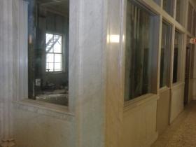 Marble interior.