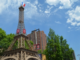 43-foot Eiffel Tower replica