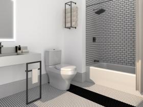 Dubbel Dutch Guest Bathroom