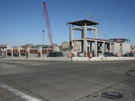 MSOE Athletic Field and Parking Complex under construction.
