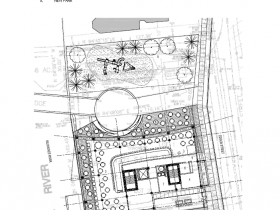 Ground floor plan for proposal by Klein Development for 1027 N. Edison St.