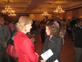 Sen. Tammy Baldwin with Judge Rebecca Dallet.
