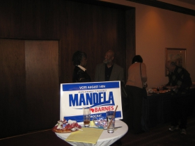 A sign for Mandela Barnes from 2012 primary election.