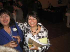 Irene Parthum (l) with Janet Protasiewicz.