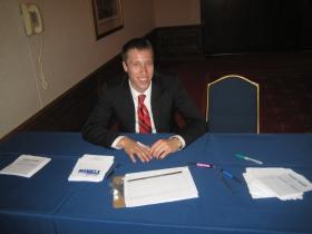 Richard Batzler, an intern for Barnes.