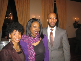 Nikiya Harris, Tamara Grigsby, and Mandela Barnes. Photo by Michael Horne.