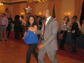 Barnes takes to the dance floor.