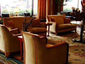 Hotel Metro's lobby.