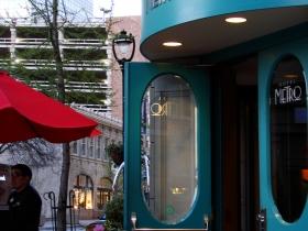 Hotel Metro door.