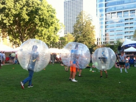 Fun and games at WMSE's 5th Annual Backyard BBQ.